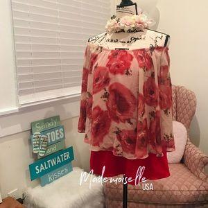Tops - Off shoulder flowy blouse